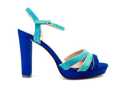 ψηλοτακουνα πέδιλα Menbur μπλε