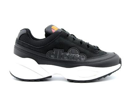 δερμάτινα μαύρα sneakers ellesse