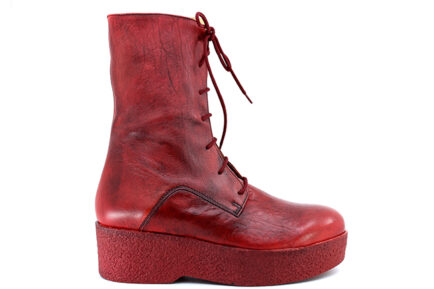 chunky booties red