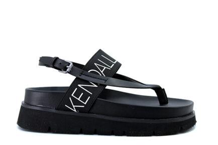 KENDALL & KYLIE μαύρα σανδάλια flatforms