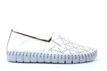 FRAU λευκά φλατ καλοκαιρινά παπούτσια slip-ons